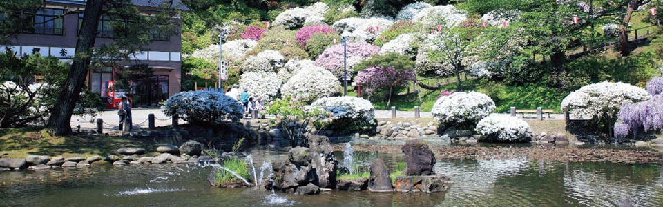 四季を彩る日本庭園「千秋公園」